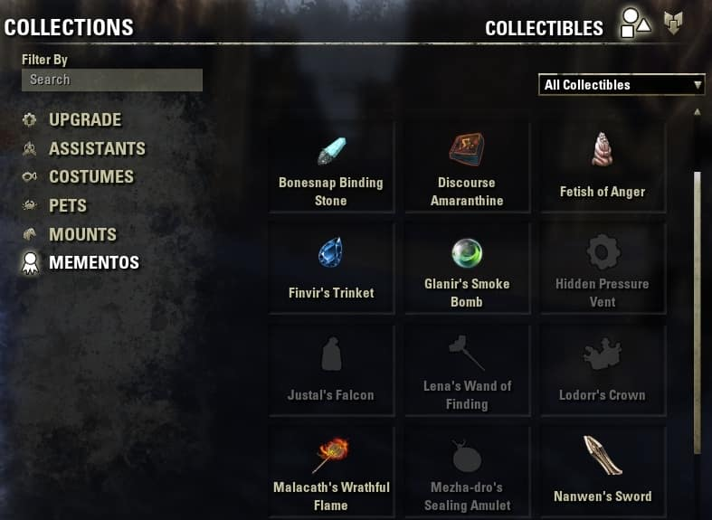 elder scrolls online quickslot item