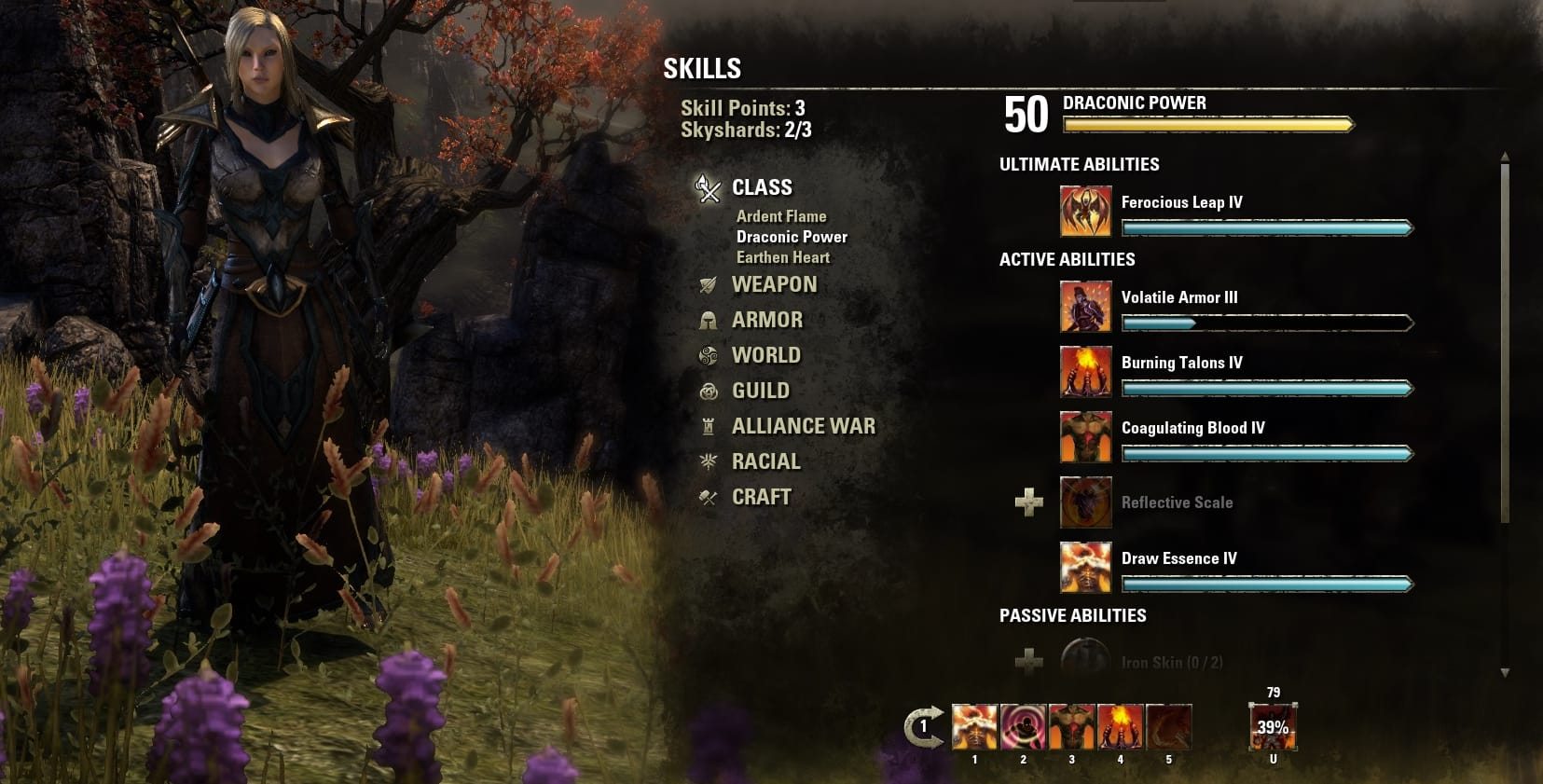 Teso Build Chevalier Dragon Competence